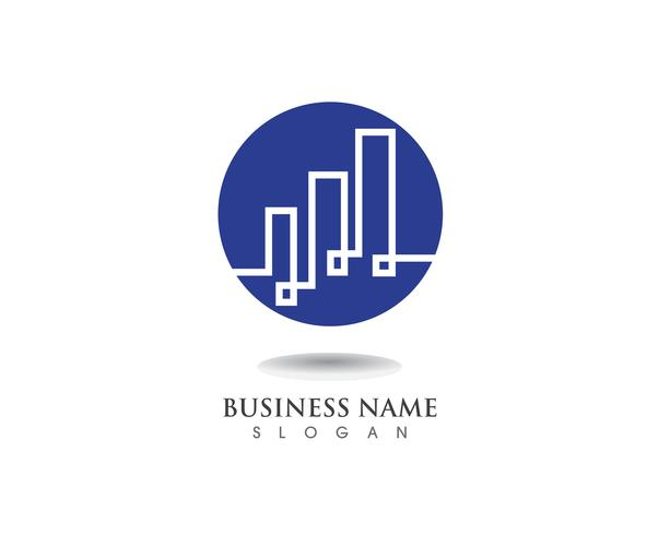 Logotipo de finanças e vetor de símbolo