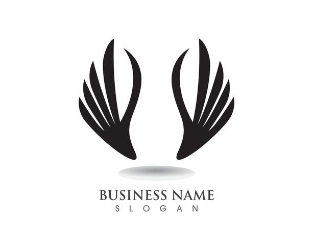 adelaarsvleugel valk logo en symbolen sjabloon vector