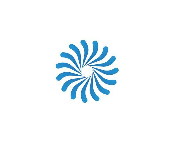 logotipo do vórtice e modelo de símbolos vetor