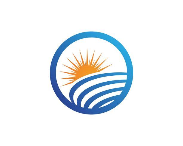 Logotipo genérico y símbolos del sol. vector