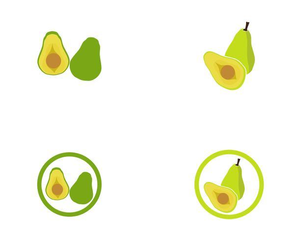 logotipo de modelo de vetor de abacate