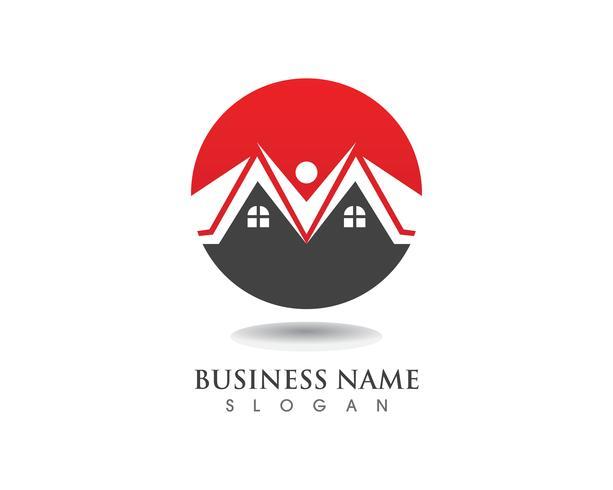 gebouwen logo en symbolen pictogrammen sjabloon vector