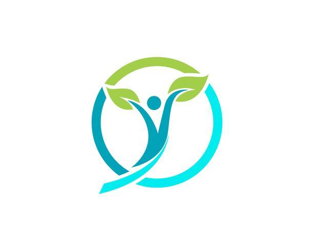 Logo de personnes de santé et symboles succès santé vecteur