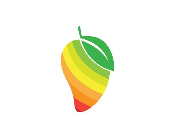 Mango i platt stil mango logo mango ikon vektor bild
