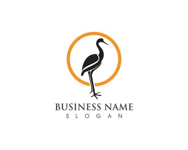 Vetor de modelo de logotipo de cisne
