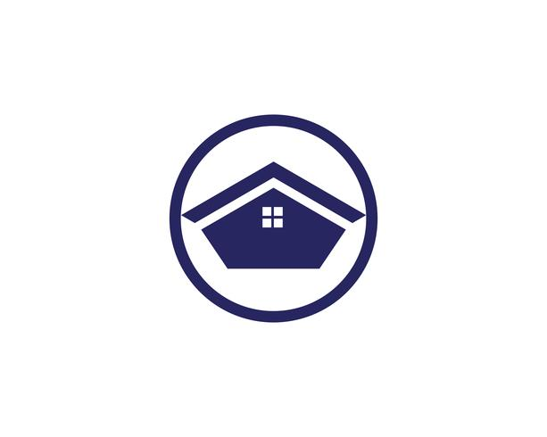 modelo de ícones de símbolos de logotipo de edifícios de casa vetor