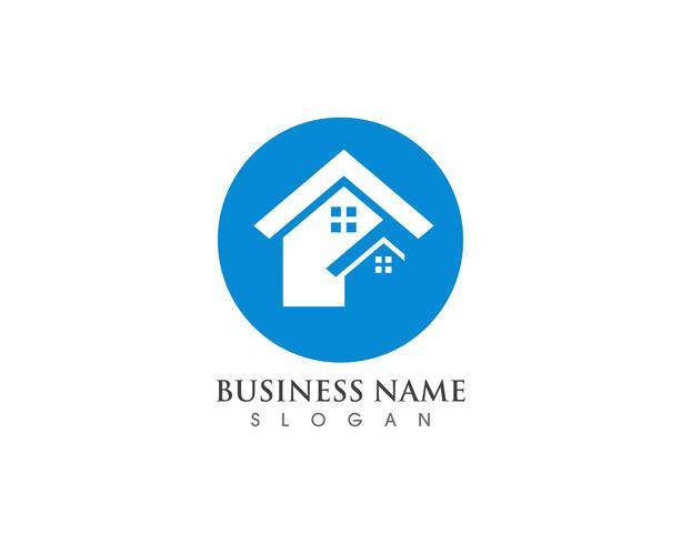 Modelo de logotipo simples em casa vetor