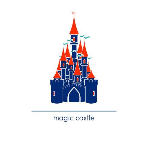 Castle Line-artstijl. Pretpark pictogram. vector