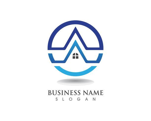 Plantilla de iconos de logotipo y símbolos de edificios vector