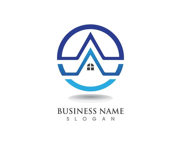 Gebäude Logo und Symbole Symbole Vorlage