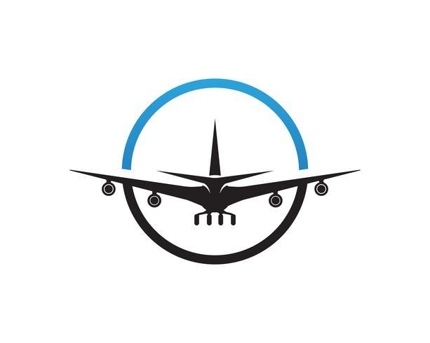Aeromobile, aereo, etichetta del logo della compagnia aerea. Viaggio, viaggio aereo, simbolo dell'aereo di linea. Illustrazione vettoriale