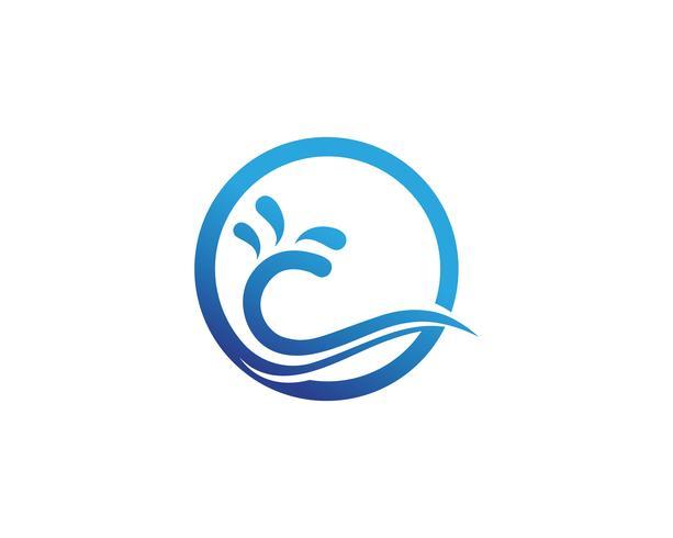 Aplicación de iconos de la plantilla de símbolos y símbolos de la playa de Waves vector