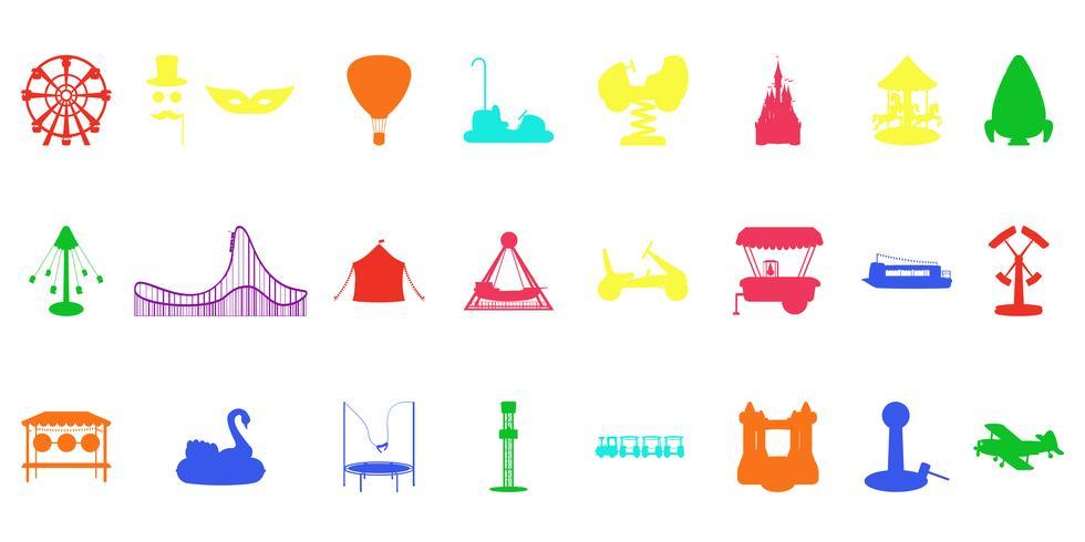 Amusement park silhouette rides