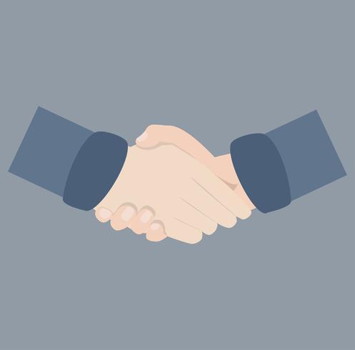 schudden hand overeenkomst vector