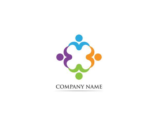 Adopción y cuidado de la comunidad Logo plantilla vector