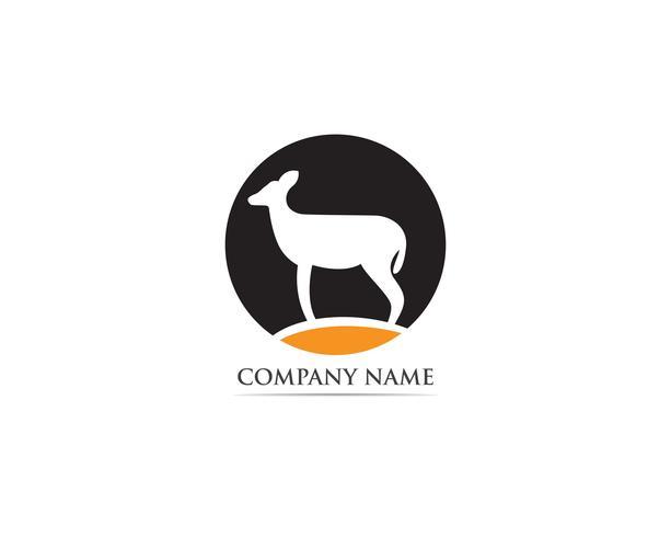 Vector de logotipo y símbolo de ciervo