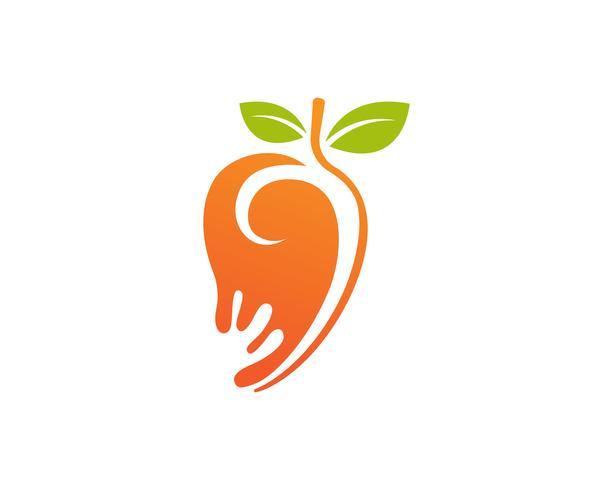 Mangue à plat style mangue logo image de mangue icône image vectorielle vecteur