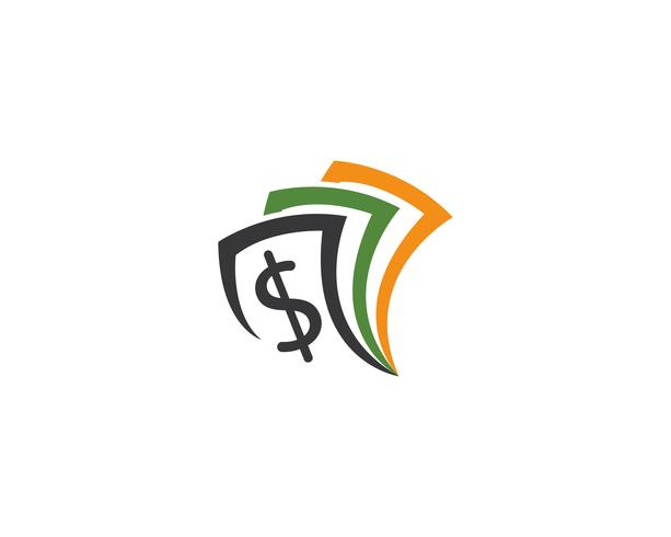 pengar logotyp vektor mall