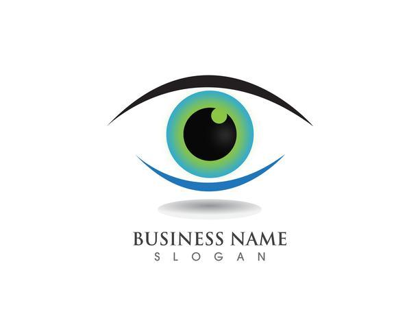 Símbolos de salud de logotipo de cuidado de ojo vector