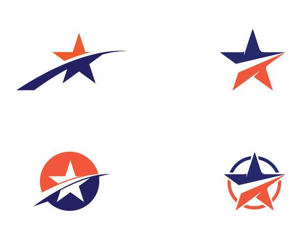 Vetores de modelo de logotipo estrela