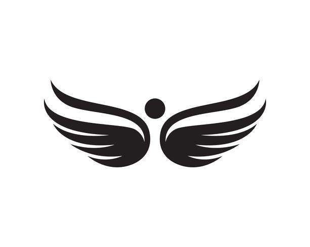 Flacon wing template icons vector design