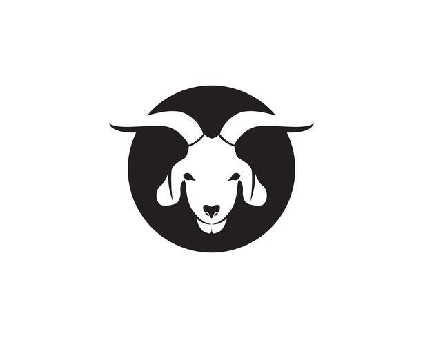 Animali neri di capra vector logo e simbolo