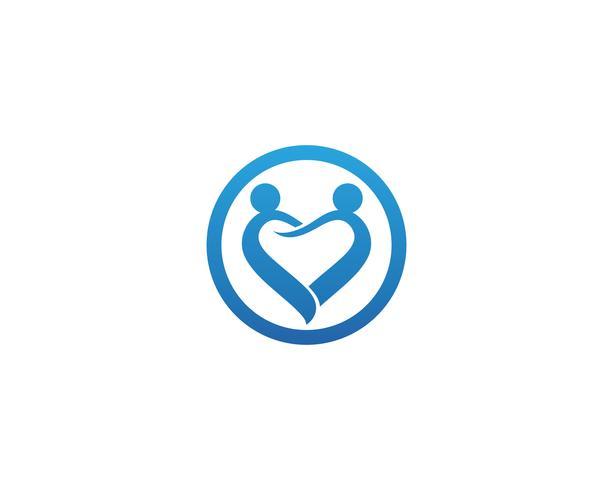 Adoção e assistência comunitária Logo template vector