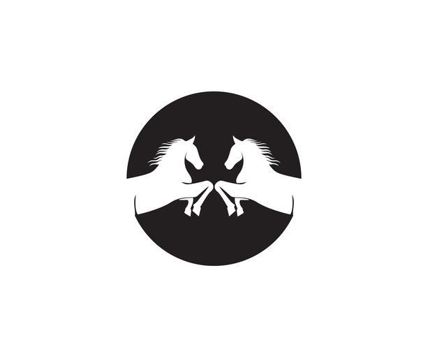 Testa di cavallo nera Logo Template Vector