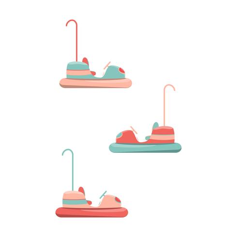 Cartoon bumper cars icon. Isolerad vektor illustration