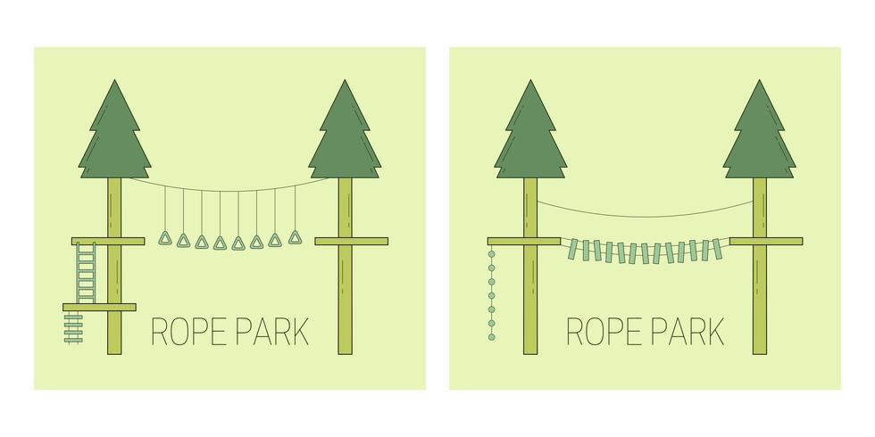 Pista del parque de cuerdas