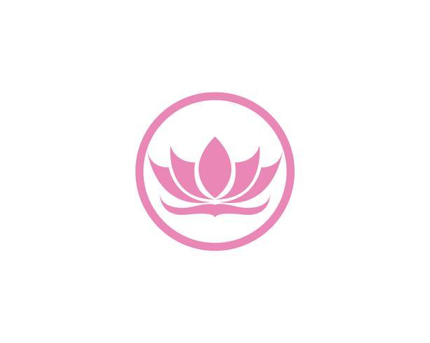Lotus-Blumenlogo und Symbolvektorschablone