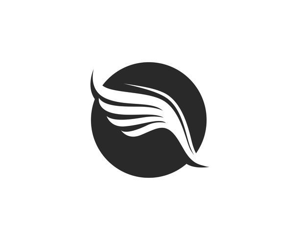 Création d'icône de vecteur Falcon Wing Logo Template
