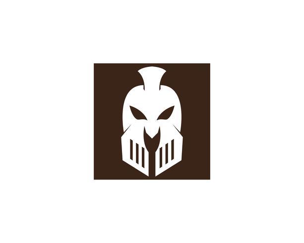 Icona di Gladiatore Spartan casco logo modello vettoriale
