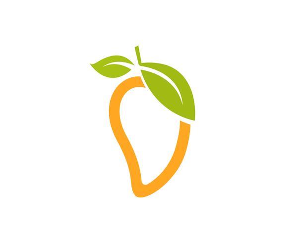 Mango in vlakke stijl mango logo mango pictogram vector afbeelding