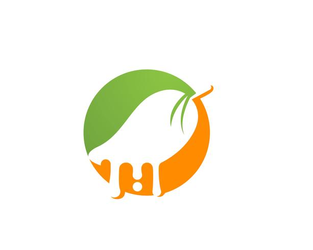 Symbole de logo vectoriel fruits mangue