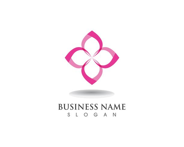 floral patterns logo and symbols on a white backgrounds vector