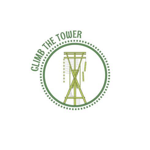 Timbro della torre alpina vettore