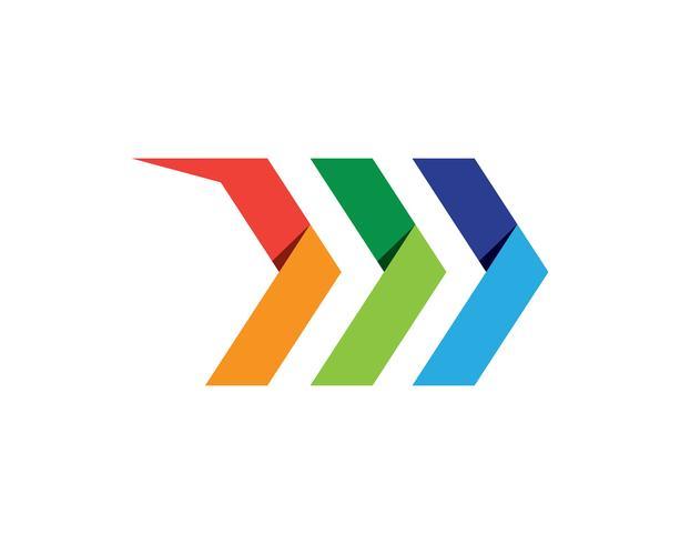 Un diseño más rápido del ejemplo del icono del vector de Logo Template