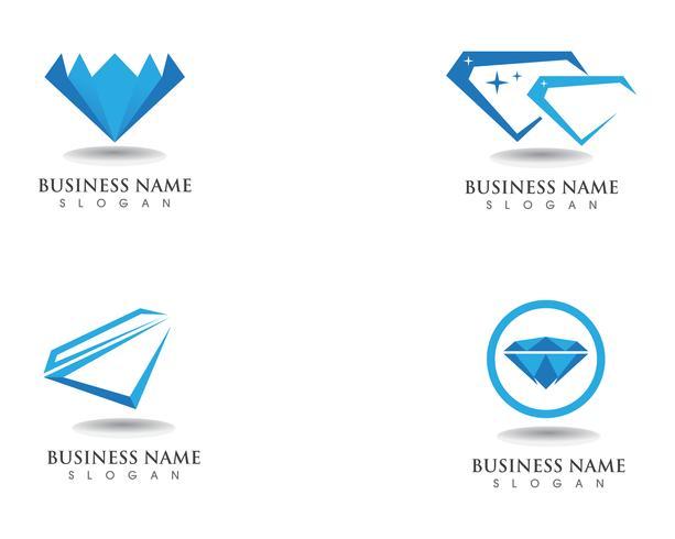 Icône de modèle diamant logo symbole vecteur