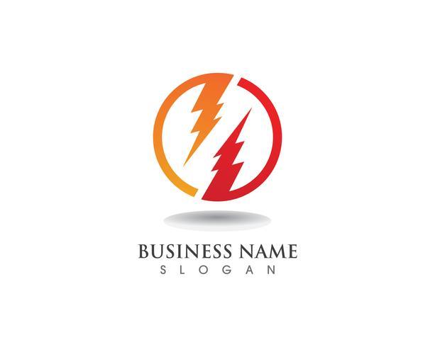 Blitz Blitz Strom Vektor-Logo-Design