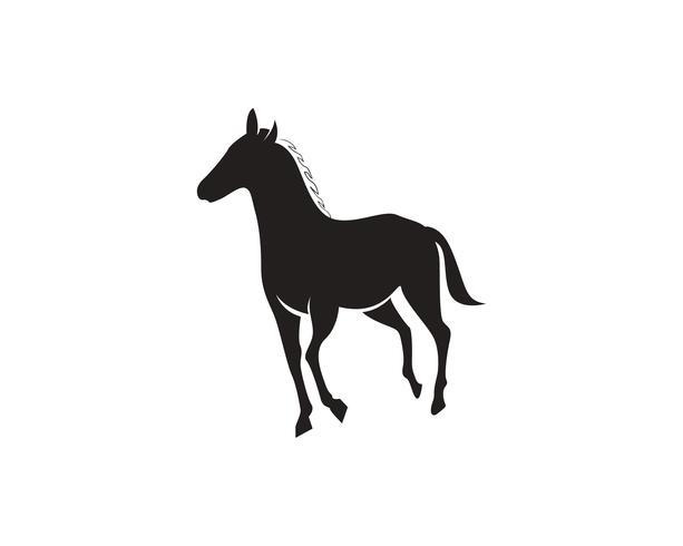 Cheval Logo Template Vecteur noir