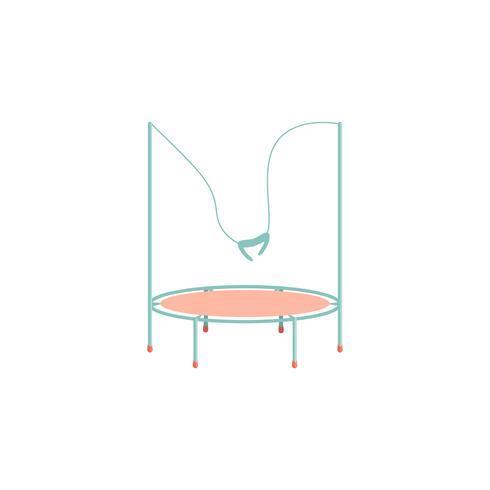 Cartoon-Trampolin-Symbol. vektor