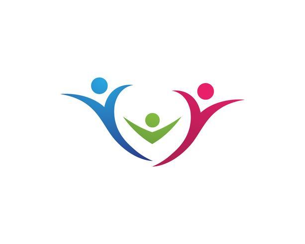 Annahme- und Gemeindesorgfalt Logo-Schablonenvektor