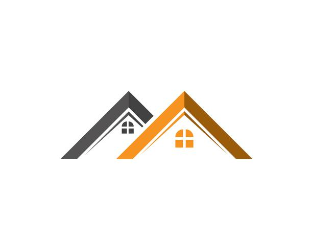 vettore del modello di casa e casa loghi