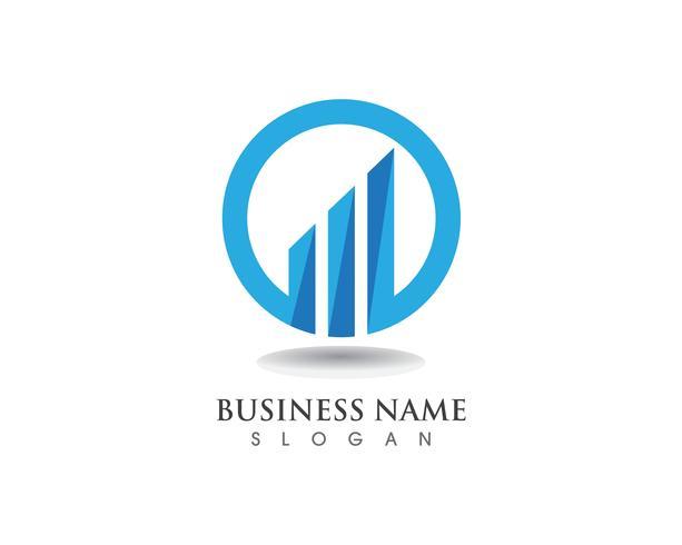 Vector logo y símbolos de finanzas