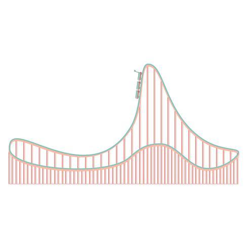 Cartoon roller coaster icon vector