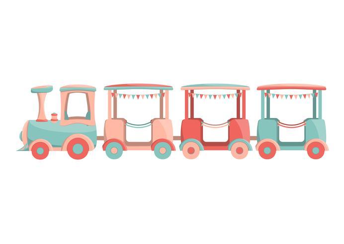 tecknade barn tåg ikon
