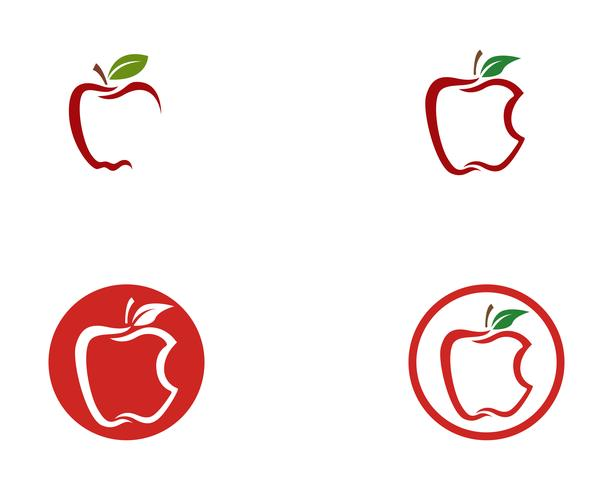 Apple vector illustration design icon logo template Vector