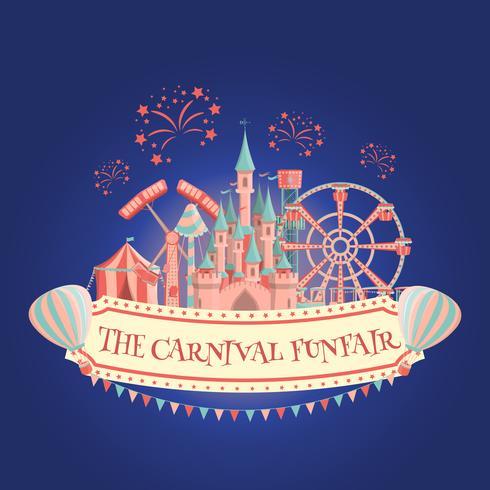 Amusement park banner vector