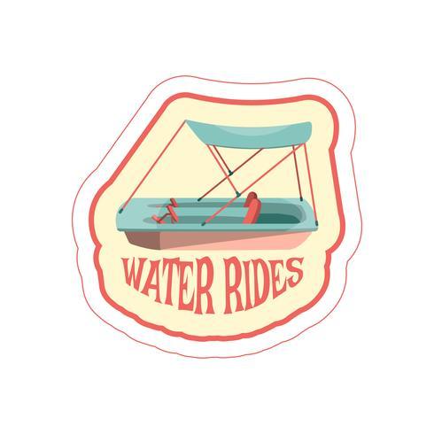 Pegatina con icono de bote a pedal de dibujos animados